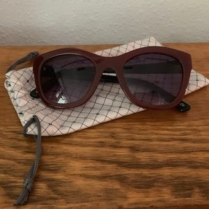 Anthropologie Red and Black Sunlasses